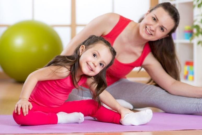 Physical exercises of the child