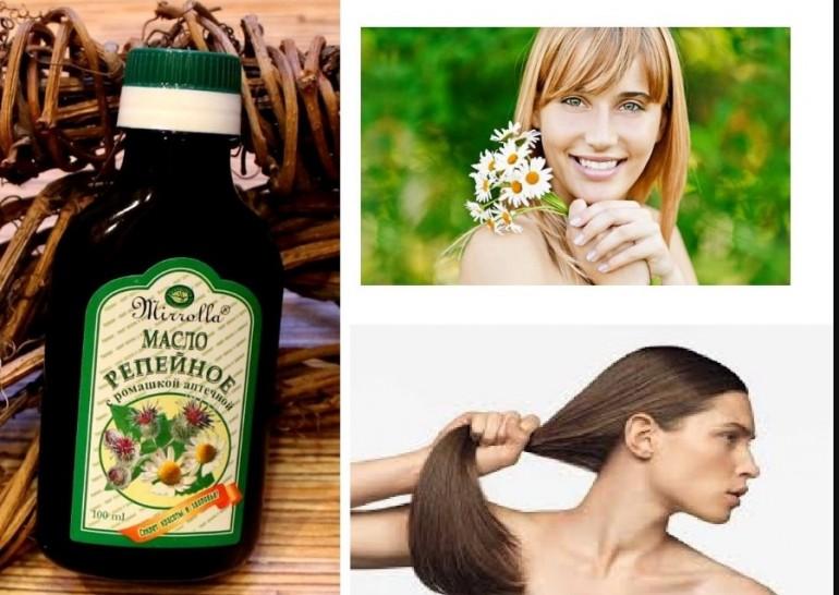 Репейное масло с красным перцем для волос