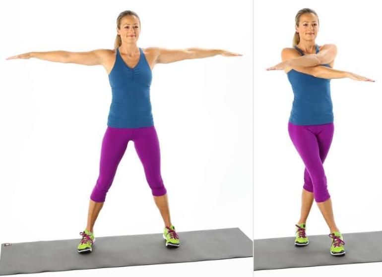 Простой комплекс упражнений, чтобы руки и грудь были в тонусе