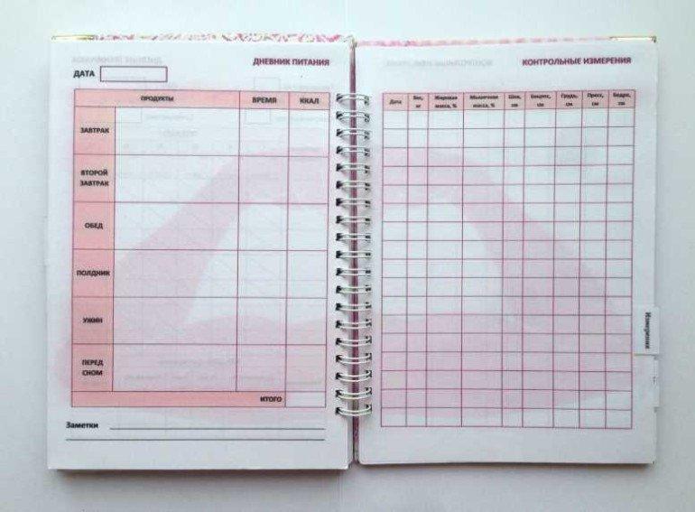 Спортивный дневник для похудения