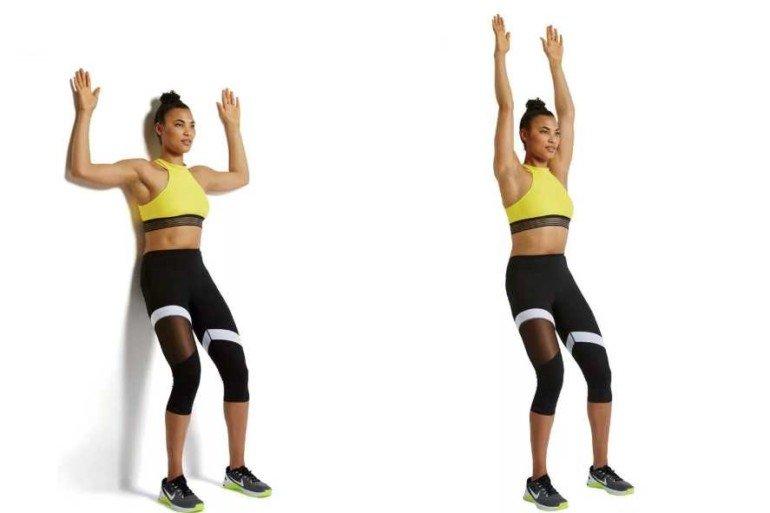 Комплекс упражнений у стены: как худеть с большим избытком веса
