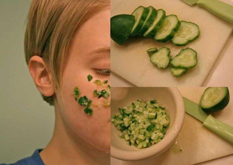 Картофельная маска и огуречный сок против морщин и сухой кожи лица