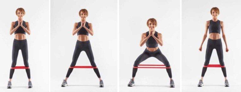 Как обычной фитнес-резинкой прокачать бедра до жжения в мышцах